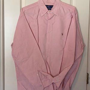 Ralph Lauren Pink Buttondown 16.5 33 Yarmouth L